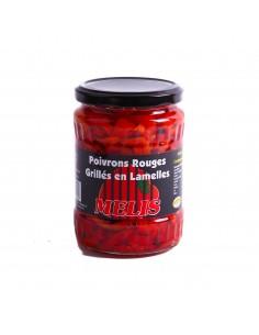 Poivrons rouges en lamelles...