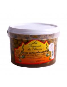 Seau olives vertes dénoyautées