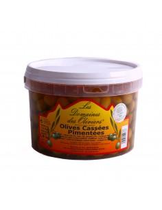 Seau olives pimentées