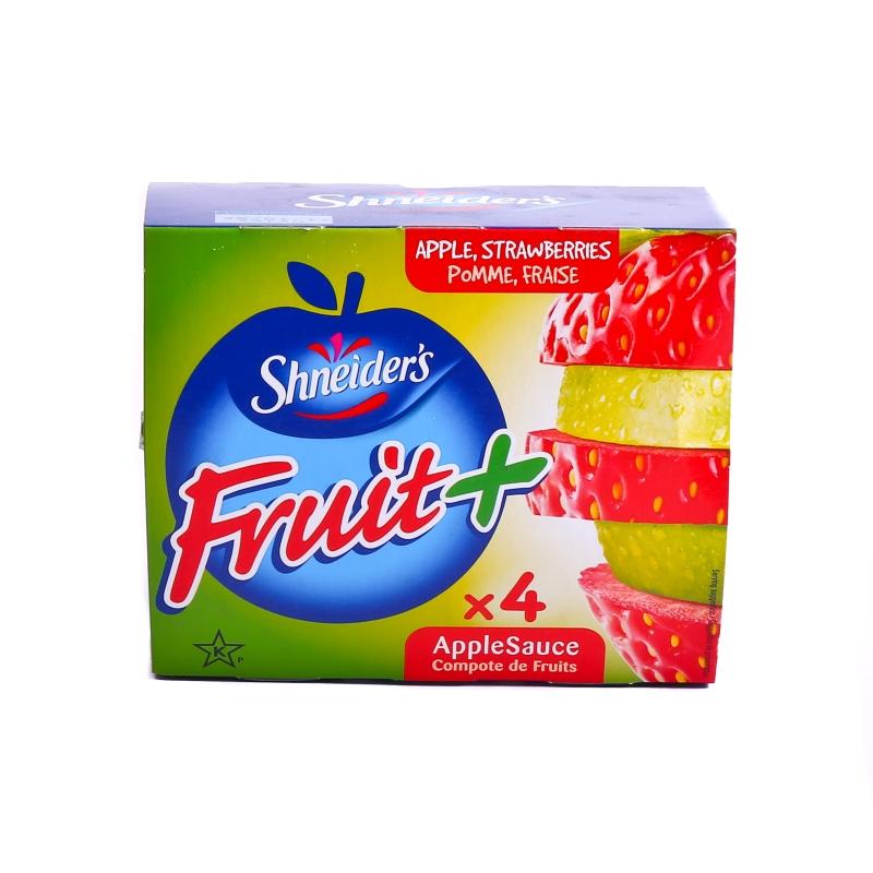 Compote pomme fraise en gourde
