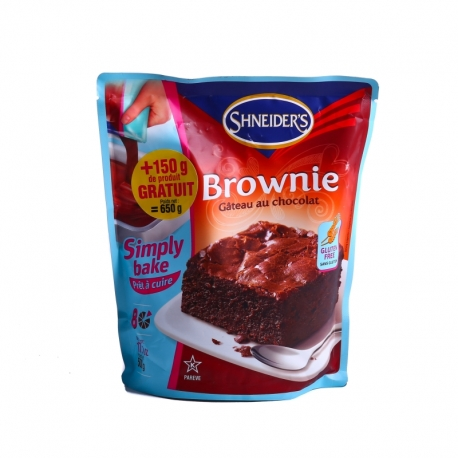 Préparation pour gâteau brownie