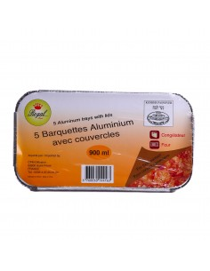 Barquette alu x5 900ml