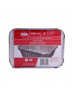 Barquette aluminium x5 2000ml