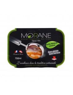 Morane vanille marbré caramel