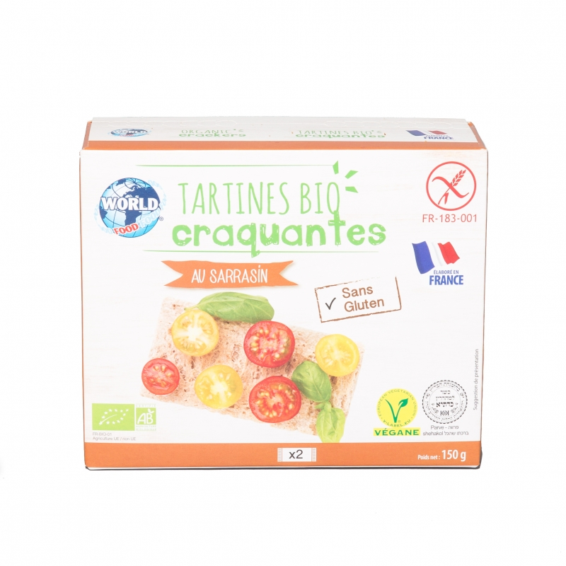 Tartines bio au sarrasin World Food