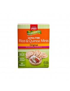 Mini galettes de riz au blé complet et quinoa